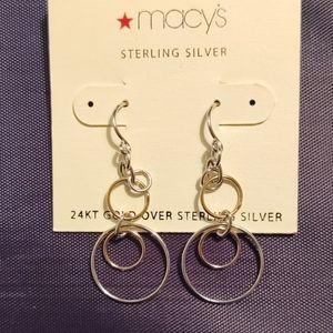 24kt Gold over Sterling Silver Dangle Earrings